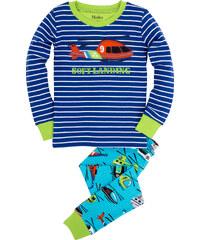 Hatley Chlapecké pyžamo s helikoptérou - modré