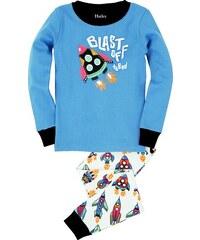 Hatley Chlapecké pyžamo s raketami - modro-bílé