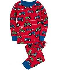 Hatley Chlapecké pyžamo s traktory - červené