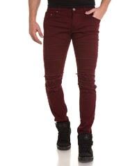 Blz Jeans Jeans Jean bordeau slim déchiré