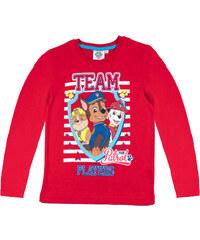Paw Patrol Langarmshirt rot in Größe 98 für Jungen aus 100% Baumwolle