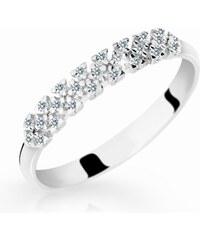 Danfil Zlatý prsten DF 2059 z bílého zlata, s briliantem