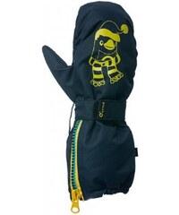O'Style Dětské rukavice Eclipse s tučňákem - černé