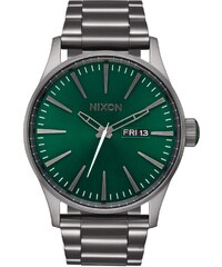 Nixon Herrenuhr Sentry SS All Gunmetal/Green Sunray A356 2458