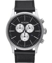 Nixon Herrenuhr Sentry Chrono Leather Black A405 000