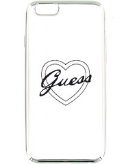 GUHCPSETRHS Guess Signature TPU Pouzdro Heart Silver pro iPhone 5/5S/SE