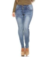 Koucla Oboustranné dámské džíny plus size