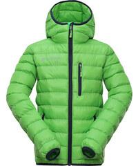ALPINE PRO Dětská prošívaná bunda Bartollo - zelená