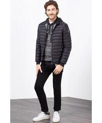 Esprit Žakárový pulovr s kapucí, s vlnou