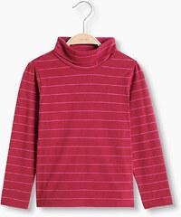 Esprit T-shirt rayé à col roulé, en coton stretch