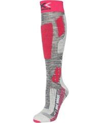 X Socks SKI RIDER 2.0 Chaussettes hautes grey melange/fuchsia