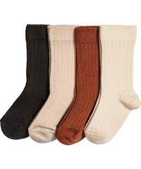 H&M 4 páry ponožek v krabičce