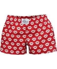 Bílo-červené dámské trenýrky s potiskem El.Ka Underwear