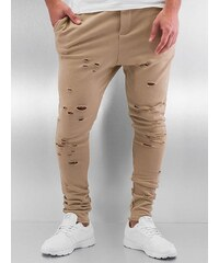 DEF Destroyed Sweatpants Beige