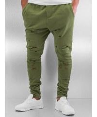 DEF Destroyed Sweatpants Olive