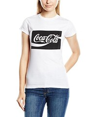 Coca-Cola Damen T-Shirt Black Block Cola