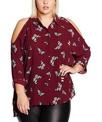 New Look Curves Damen Hemden Butterfly Convo Print