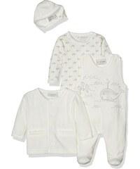 FIXONI Unisex Baby Taufanzug Strampler Body Jacke und Mütze neutral
