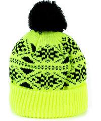 Lesara Mütze mit Schneeflockenmuster - Gelb