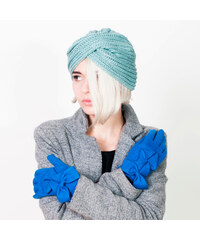 Lesara Strickmütze mit Twistdetails - Blau