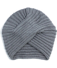 Lesara Strickmütze mit Twistdetails - Grau