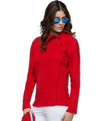 Nebulus Fleece-Sweater Button - Rot - S