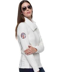 Nebulus Fleece-Sweater Button - Weiß - S