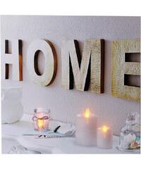 Lesara LED-Wandbild Kerzen - Home