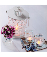Lesara LED-Wandbild Kerzen - Laterne