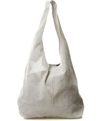 Swan Sac à main en cuir - gris clair