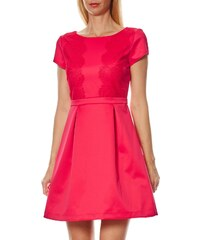 Naf Naf Y-exclu - Kleid mit Bundfalten - indisches rosa