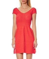 Naf Naf Nemours - Kleid mit geradem Schnitt - korallenfarben