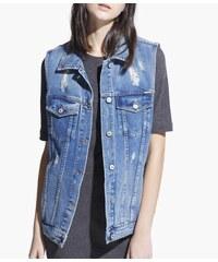 Mango Mac - Veste en jean - denim bleu