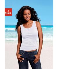 H.I.S Spodní košilky 3ks - jemné, H.I.S 3x bílá - jemné žebrování