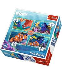 Puzzle Hledá se Dory 4v1