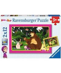 Puzzle Máša a Medvěd 2v1 2x 12 dílků
