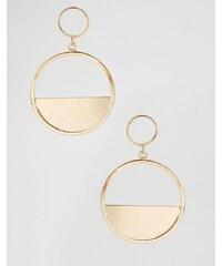 Ashiana - Boucles d'oreilles à deux anneaux - Doré