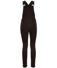 New Look Schwarze Skinny-Latzhose mit seitlichen Knöpfen, aus Jeans