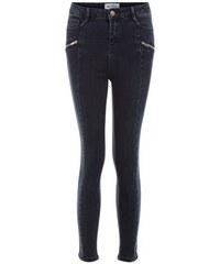 New Look Teenager – Marineblaue Skinny Jeans mit seitlichen Nähten und Reißverschluss