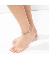 New Look Fußkettchen in Gold, Korallenrot und Blau, 3er-Pack