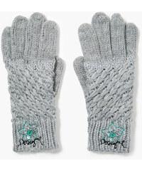 Desigual Zimní rukavice Flowers Gris Tormenta 67A58M7 2020