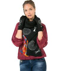 Desigual Zimní šála a rukavice Pack Basic Negro 67W58K2 2000