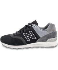 New Balance Baskets/Running 574 Re-engineered Suede Noire Homme