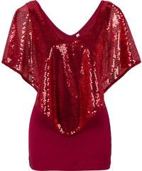 BODYFLIRT boutique T-shirt rouge manches mi-longues femme - bonprix
