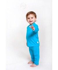 Bamboolik Bambusové tričko - dětské bambusové tričko (modré s bílou)