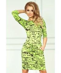SAF Dámské šaty Samá novinka zelené
