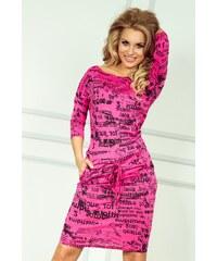 SAF Dámské šaty Samá novinka růžové