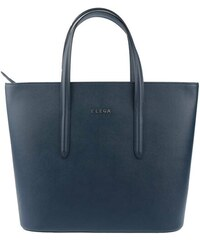 Dámská kožená kabelka Simply Elega 68949, modrá