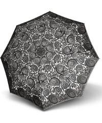 Doppler Dámský skládací plně automatický deštník Fiber Magic Aurora - černobílé spirály 7441465AR-2