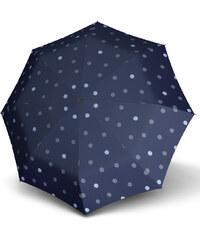 Doppler Dámský skládací plně automatický deštník Hit Magic Trio - modrý s puntíky 7440265PT02-1
